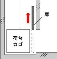 外扉ロック装置横から見た図1